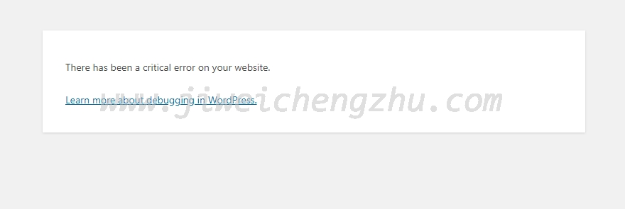 """WordPress安装失败,提示""""There has been a critical error on your website."""""""